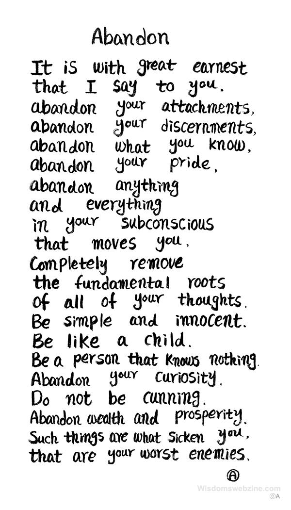 Abandon - Wisdom's Webzine