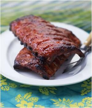 Hawaiian BBQ style braised Pork Ribs - Wisdom's Webzine